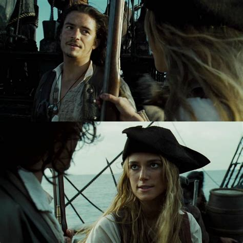 orlando bloom jack sparrow pirates of the caribbean elizabeth swann and will turner