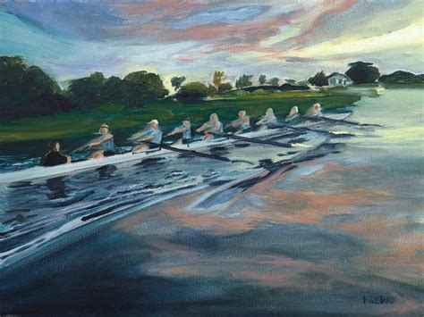 sculling boat canvas 19 best rowing paintings images on pinterest oil on
