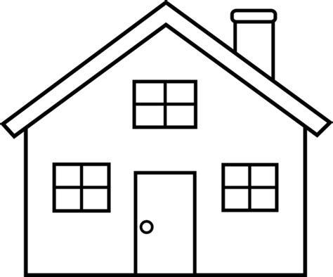 Black And White Home House Outline Clipart Black And White Free Clipartix
