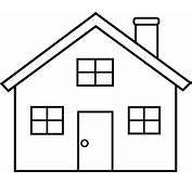 House Outline Clipart Black And White  Panda Free