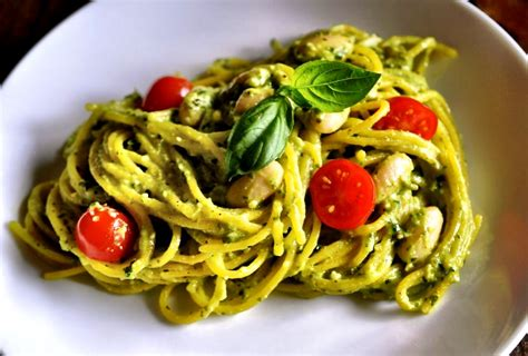 Pesto Pasta Salad Recipe Pasta Goes Rogue Vegan Avocado Pesto Habitually Hungry