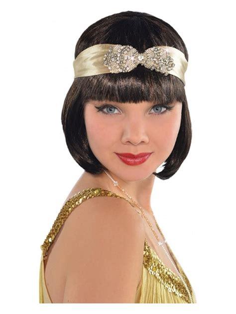 42433 Black Dress diamante flapper headband 20 s fancy dress play