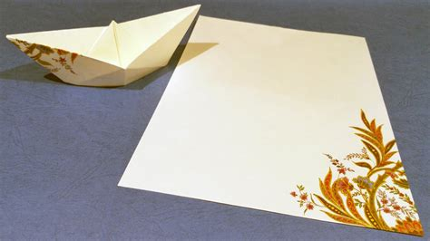 How To Make A Small Paper Boat - small paper boat origami tutorial for