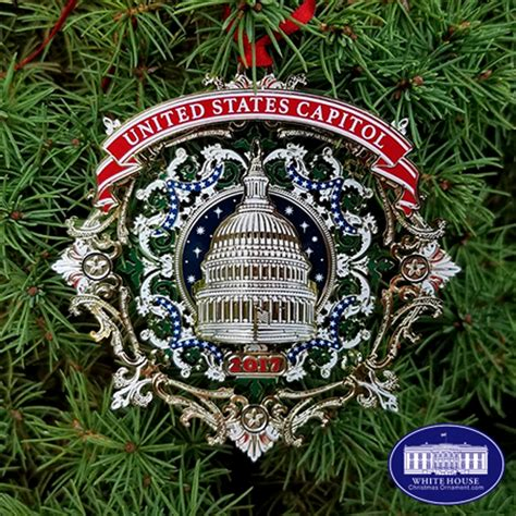 2017 us capitol dome filigree ornament