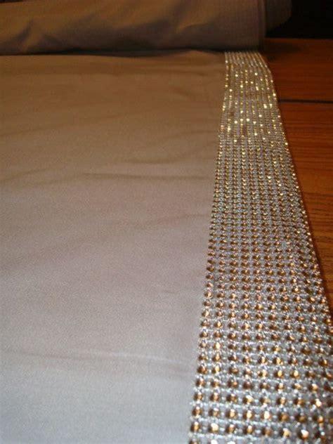 Wedding Aisle Runner Fabric by Rhinestone Trim Fabric Aisle Runner Glam Wedding Bling Aisle