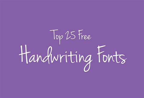 best font cool fonts 25 free handwriting fonts for designers
