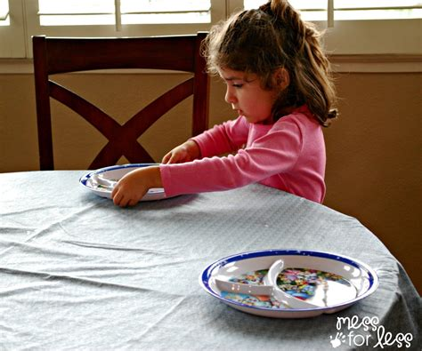 Setting The Table | practicing independence skills get ready for k through
