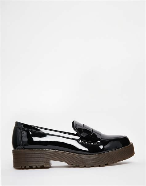 chunky loafer shoes new look chunky sole loafer shoe at asos