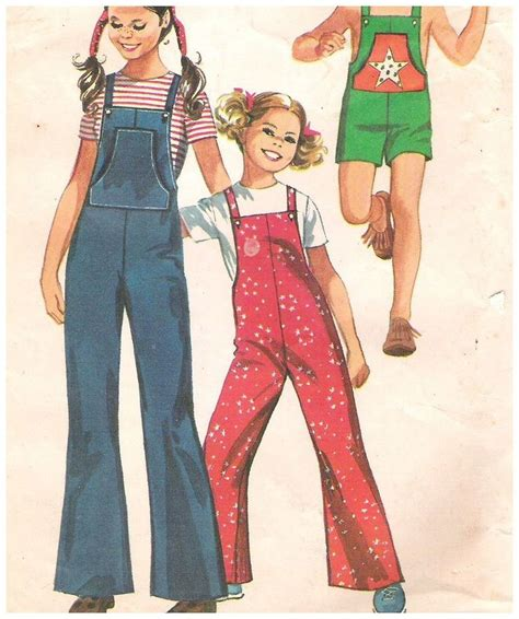 vintage overall pattern vintage girls overalls pattern size 6 simplicity 9442
