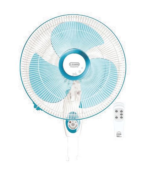 remote wall fan v guard finesta rw remote wall fan blue and white price