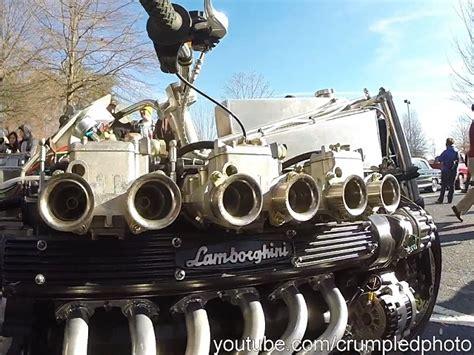 Lamborghini 12 Zylinder by Custombike Mit 12 Zylinder Lamborghini Motor Gewagt