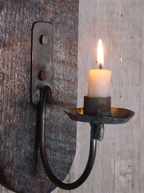 Iron Candle Wall Sconce Candle Sconces Sconces And Candles On Pinterest