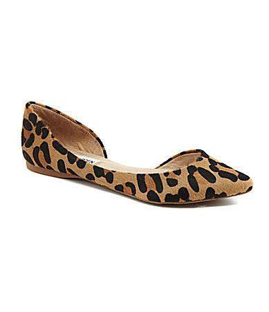 steve madden elusion leopard print d orsay flat steve madden leopards and printing