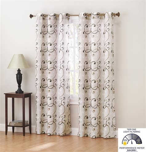 sun zero curtains com sun zero brice thermal lined grommet curtain