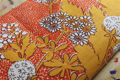70s fabric 70s soviet cotton fabric russian vintage fabric with