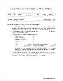 Free Contract Templates For Small Business Free Basic Sale Of Business Assets Agreement From