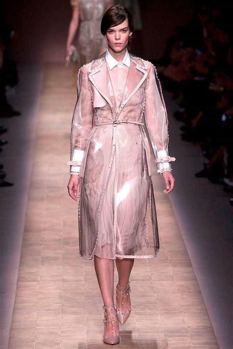 Sho Clear valentino ss 13 clear vinyl rock stud trench coat at 1stdibs