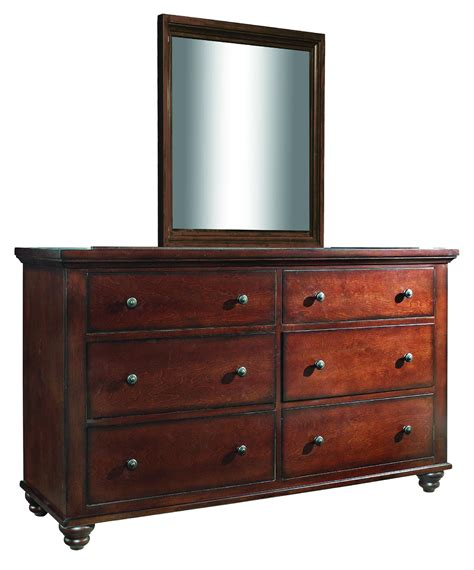 aspenhome cambridge 6 drawer dresser and mirror combo