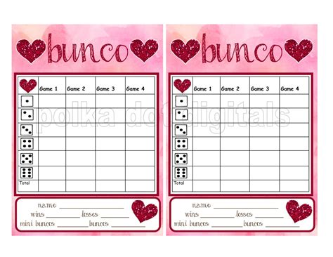 bunco score card templates valentines buy 2 get 1 free glitter hearts s complete set