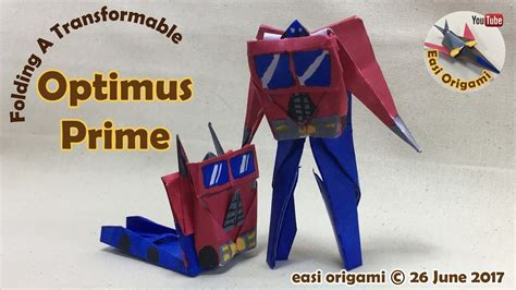 Origami Transformer - how to make a papercraft origami transformer optimus