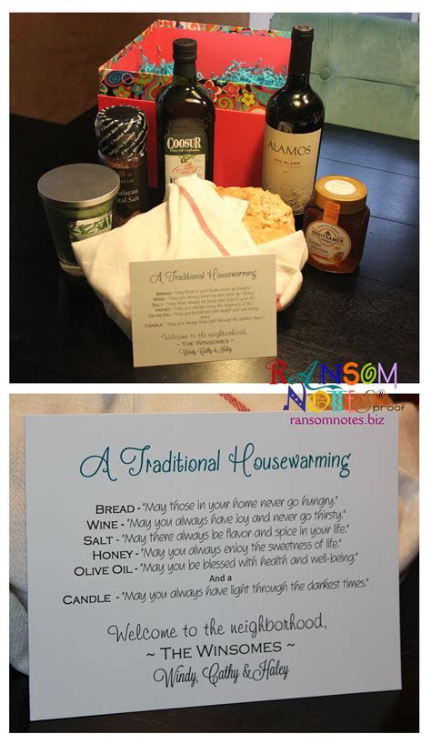 house warming presents traditional housewarming gift for new neighbors did it