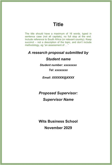 research proposal template  printable samples