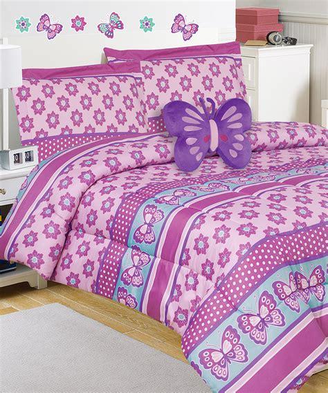 mini comforter set mytex pink purple butterfly mini comforter set zulily