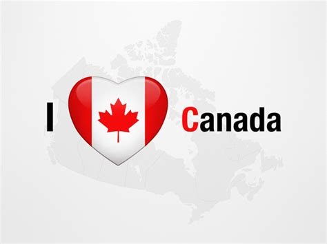 I Love Canada Powerpoint Map Slides I Love Canada Map Canada Powerpoint Template