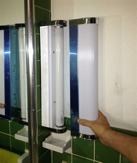 bathroom fluorescent light covers where to find vintage style light bars and plastic