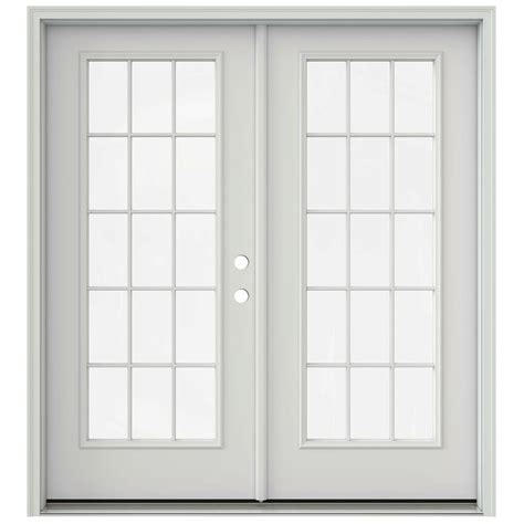Patio Door Swing Direction Jeld Wen 72 In X 80 In Primed Prehung Left Inswing