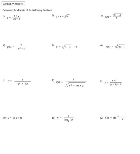Relations And Functions Worksheet by Math Plane Domain Range Functions Relations