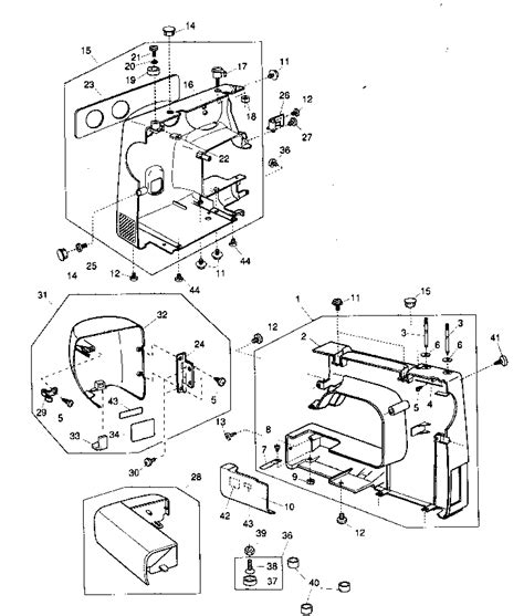 kenmore sewing machine parts diagram kenmore sewing machine parts model 38515408500 sears