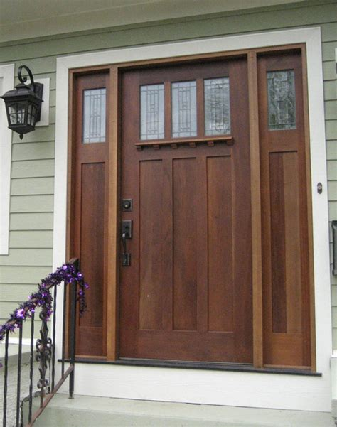 Mission Style Exterior Doors Mission Style Front Door Wooden Mission Style Front Door Craftsman Front Doors Other Metro By