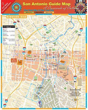 map of downtown san antonio texas pin by on i want to go