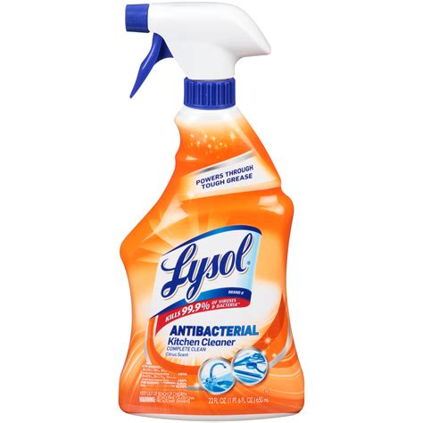 How To Make Kitchen Cleaner by Lysol Antibacterial Complete Clean Citrus Scent Kitchen