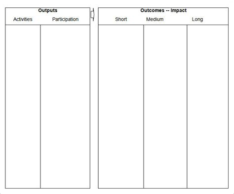 blank table template 4 blank table templates pdf doc excel free
