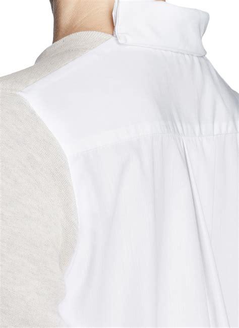 Gray Back Dress U221 sacai luck poplin back sweatshirt dress in gray lyst