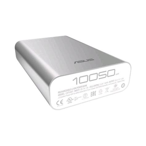 Asus Powerbank 10050mah Silver Limited asus zenpower power bank abtu005 10050mah silver