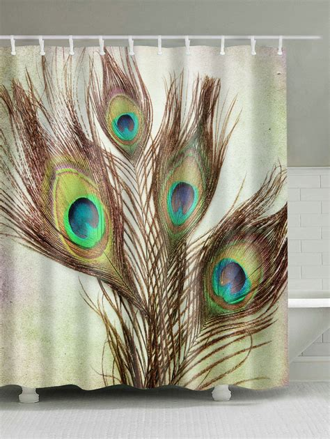 peacock feather shower curtain peacock feather waterproof fabric shower curtain in light