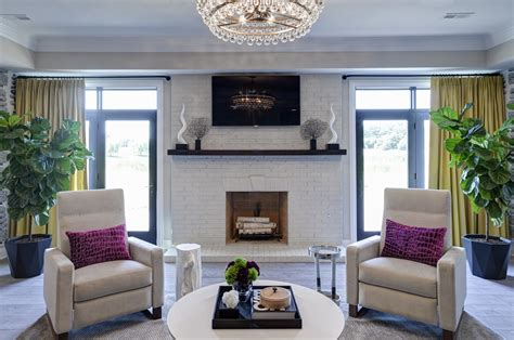 EDYTA & CO. Modern Family Room, Fireplace and TV Area
