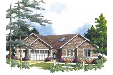 brick bungalow house plans brick bungalow with stone accents hwbdo60450 cottage