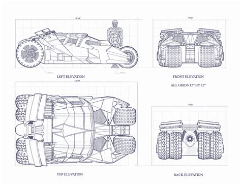 best blueprints batmobile tumbler blueprint free blueprint for