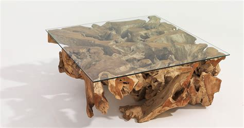 teak root coffee table dubai organic designer furniture