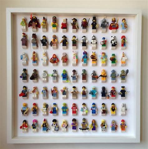 lego minifigure holder minifigures frame display custom made for your lego