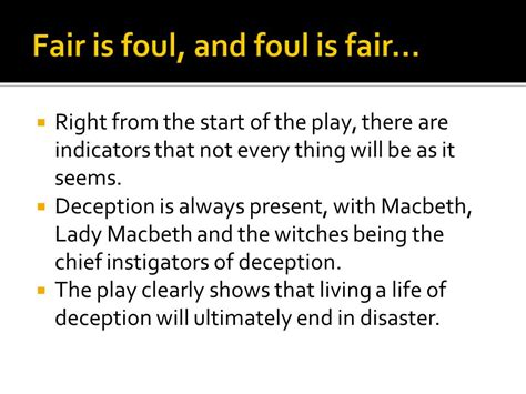 macbeth themes deception appearances vs reality ppt video online download