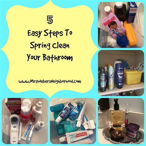 steps in cleaning the bathroom 5 easy steps to spring clean your bathroom mrs weber s