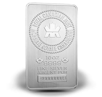 10 oz royal canadian mint silver bar 999 royal canadian mint s bullion 10 oz silver bar elite pmx