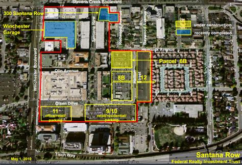 san jose development map the san jose new santana row residential development