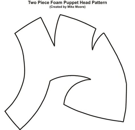 puppet templates pattern for two foam puppet created by mike