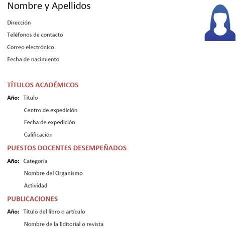 Modelo Curriculum Europeo Ingles modelo de curriculum vitae guatemalteco modelo de